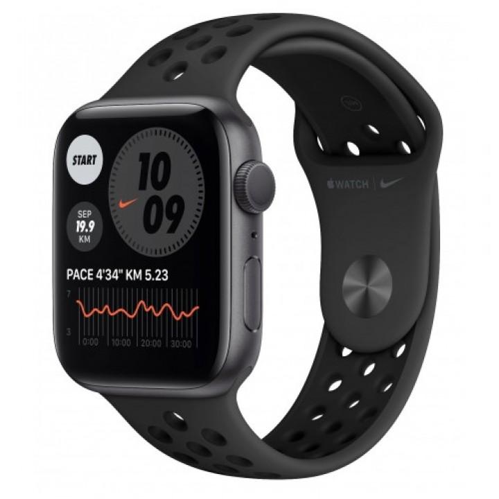 Apple Watch Series SE Nike 44mm алюминий серый космос/антрацитовый, черный